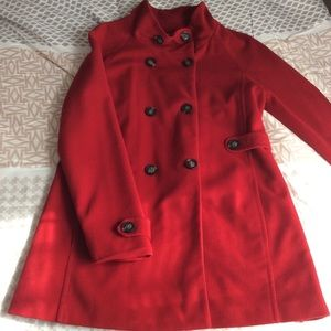 Elegant red pea coat - Great condition